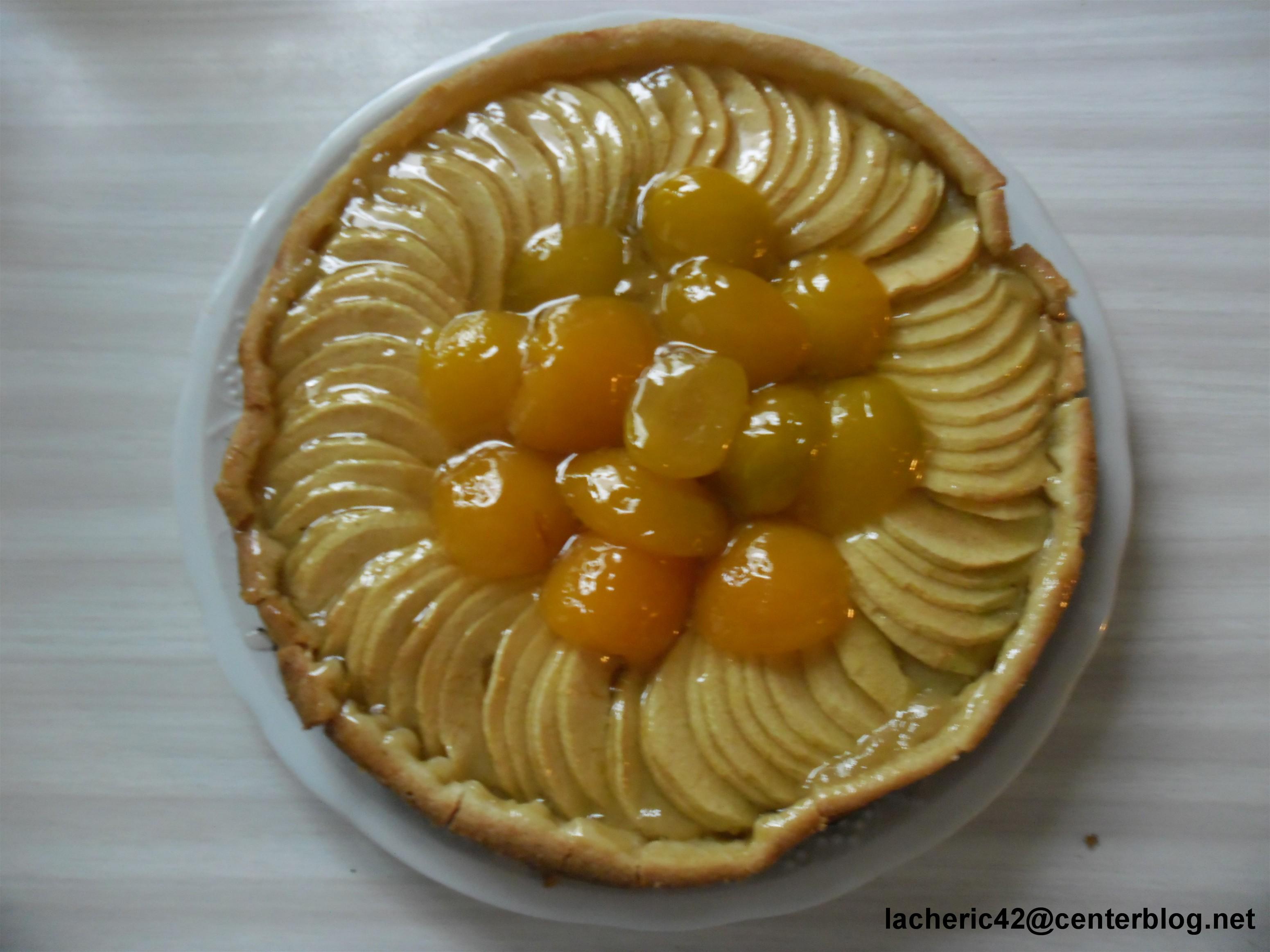 Les tartes - Tarte aux pommes compote maison ...